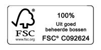 FSC - 100% uit goed beheerde bossen